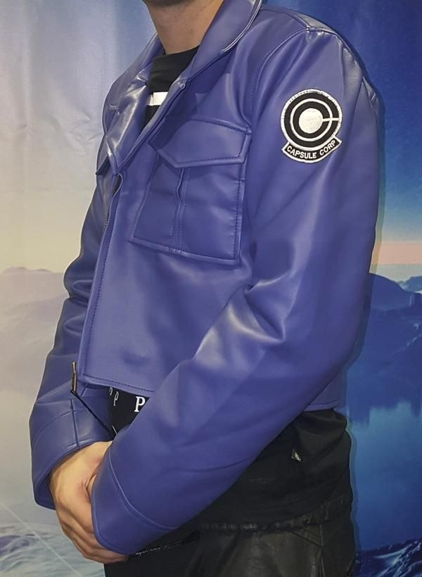 Dragon Ball Z Future Trunks Capsule Corp Leather Jacket side