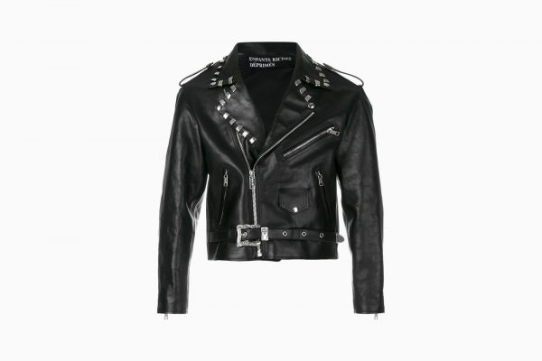 Enfants Riches Déprimés Black Biker Jacket