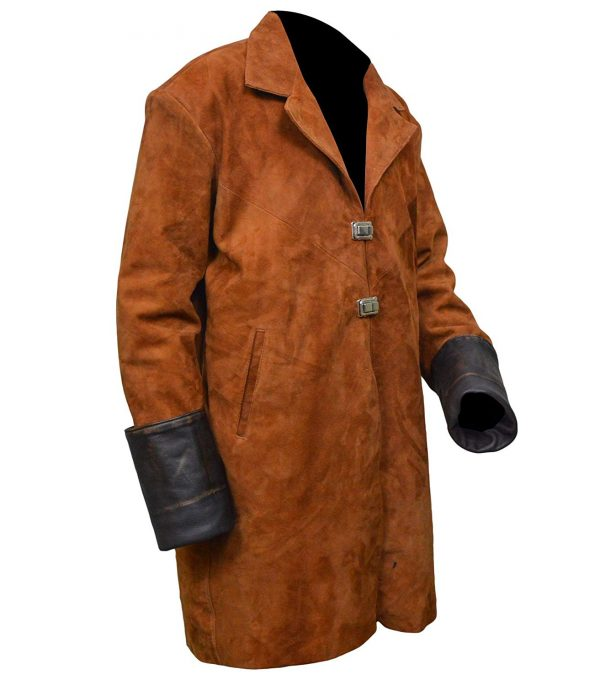 Firefly Malcolm Reynolds Suede Leather Trench Coat