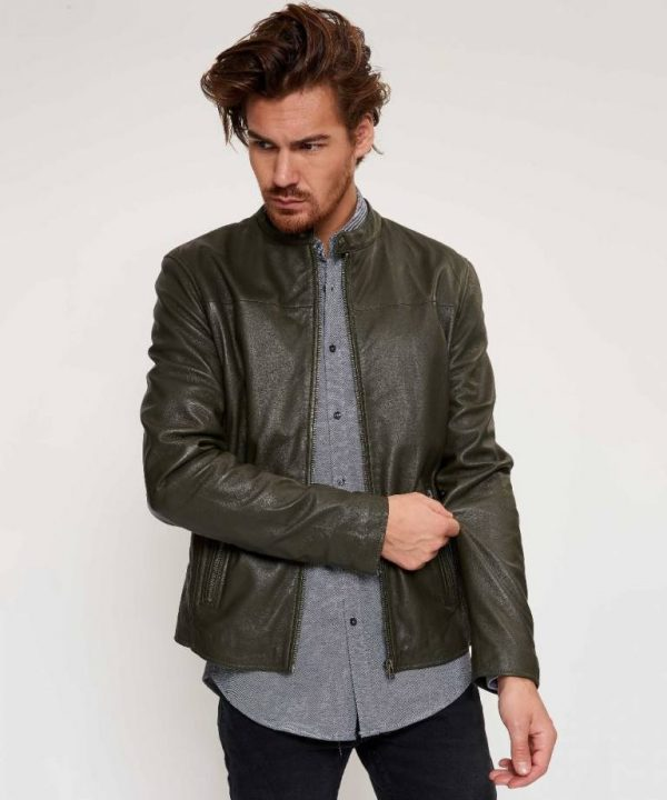 Goosecraft Green Cafe Racer Jacket