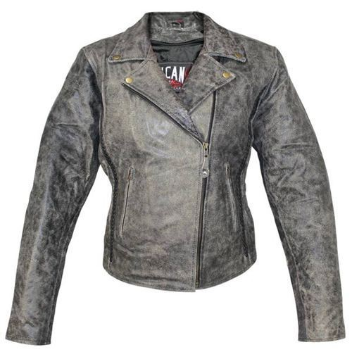Grey Casual Slim Biker Leather Jacket