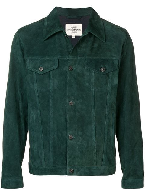 Kent & Curwin Green Suede Leather Jacket