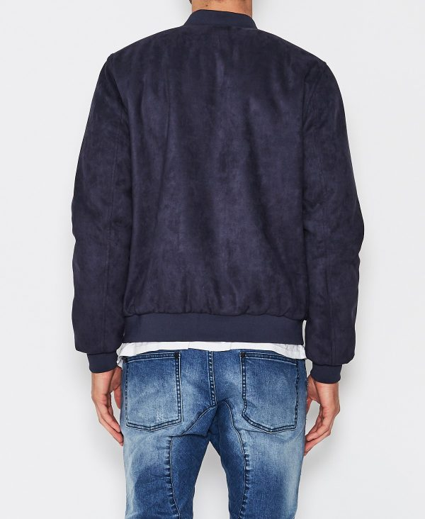 Kiss Chacey Venice Patriot Blue Bomber Cotton Jacket back