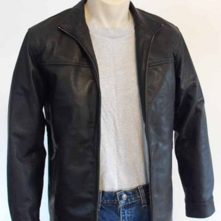 Leonardo Dicaprio Black Leather Jacket