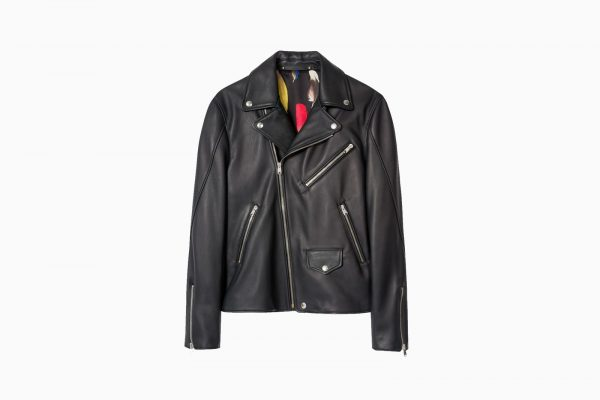 Paul Smith Black Lamb Leather Biker Jacket