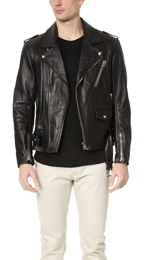 Phillip Lim leather motorcycle jacket