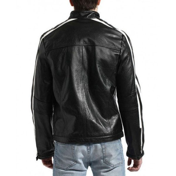 Resident Evil Leon Scott Kennedy White Stripes Jacket