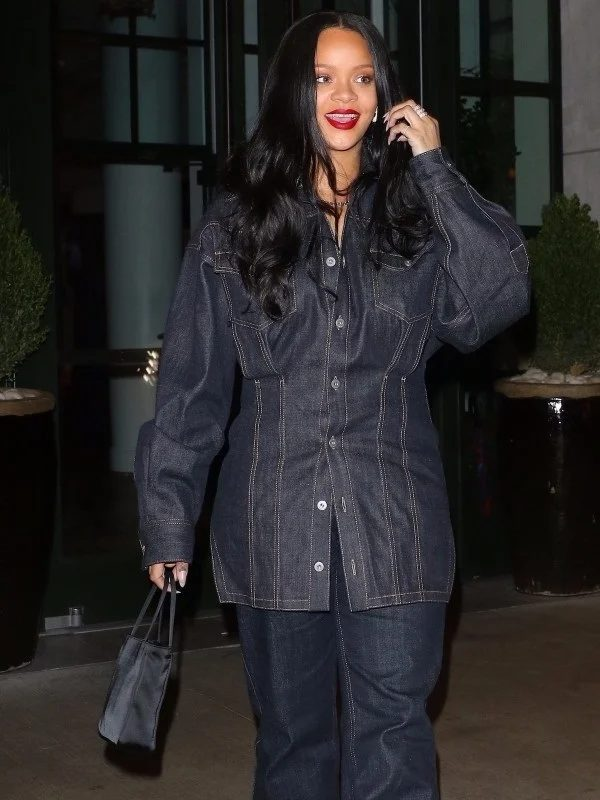 Rihanna Moments Best Style Denim Jacket
