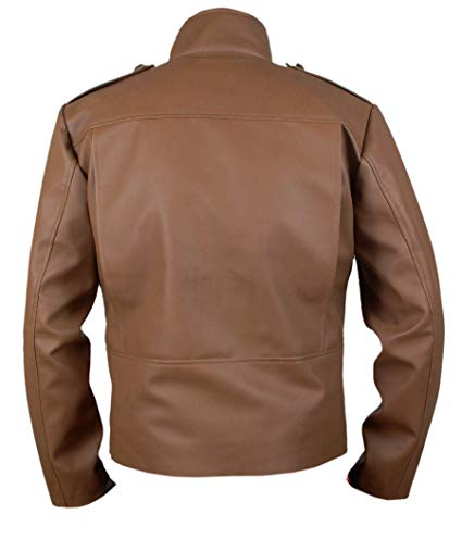 Secord Bill Rocketeer Cliff Campbell Pilot Flight Leather Jacket back