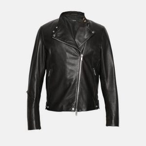 Theory banded DB leather jacket