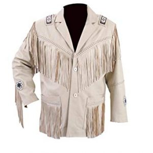 Western Fringe and Beaded Leather Jacket