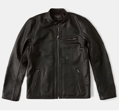Abercrombie & Fitch Flagship Leather Jacket