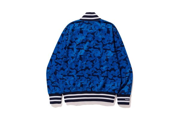 Bape X Mitchell & Ness Mlb New York Yankees Blue Varsity Jacket