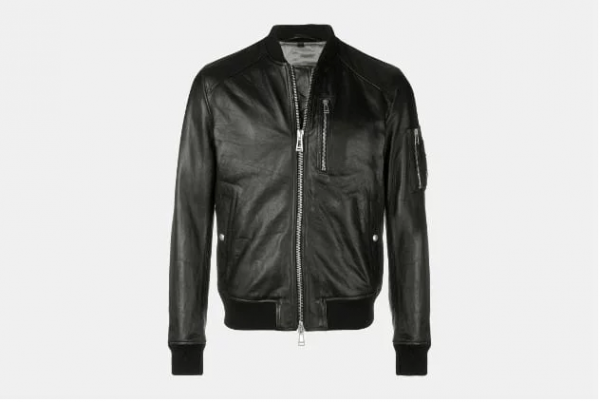 Belstaff Leather Bomber Jacket