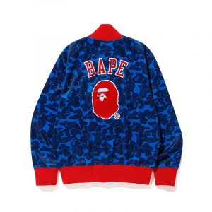 Blue Angels BAPE X Mitchell Ness Mlb Blue Varsity Jacket