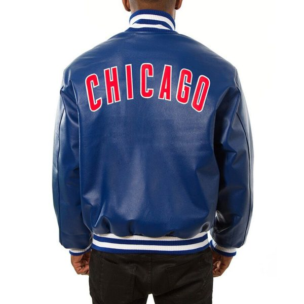 Chicago Cubs Baseball Leather Jacket