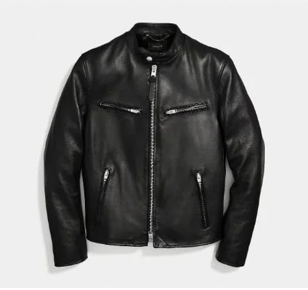 Coach Cafe Racer Leather Jacket