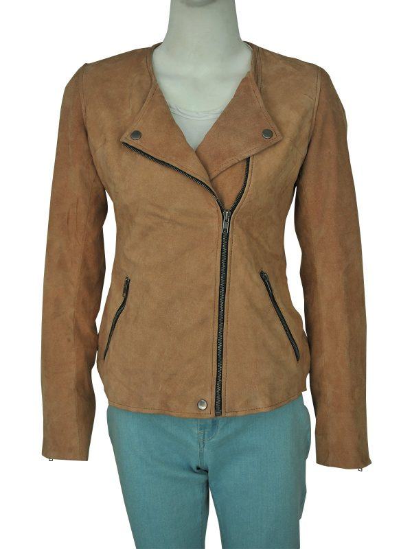 Dead To Me Linda Cardellini Brown Suede Leather Jacket