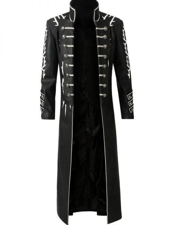 Devil May Cry 5 Vergil Black Leather Coat