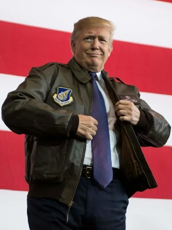 Donald Trump A2 Flight Bombers Leather Jacket