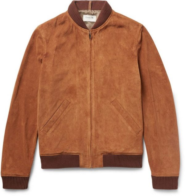 Louis W Suede Bomber Jacket