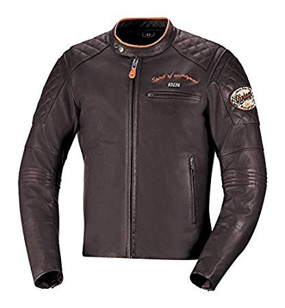 Mens Eliott Brown Street-Cruiser Leather Jacket