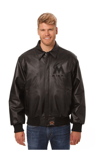 Miami Marlins baseball Leather Jacket