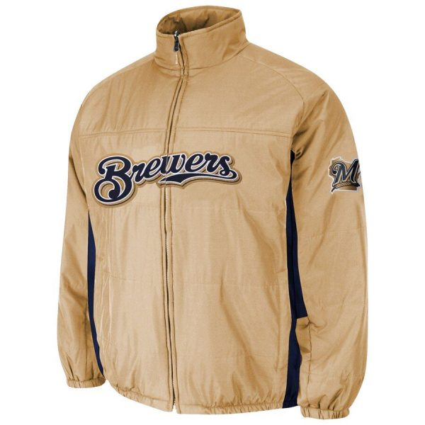 Milwaukee Brewers Majestic Double On-Field Jacket