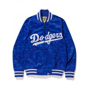 New York Yankees Bape X Mitchell Ness Mlb Blue Dodgers Varsity Jacket