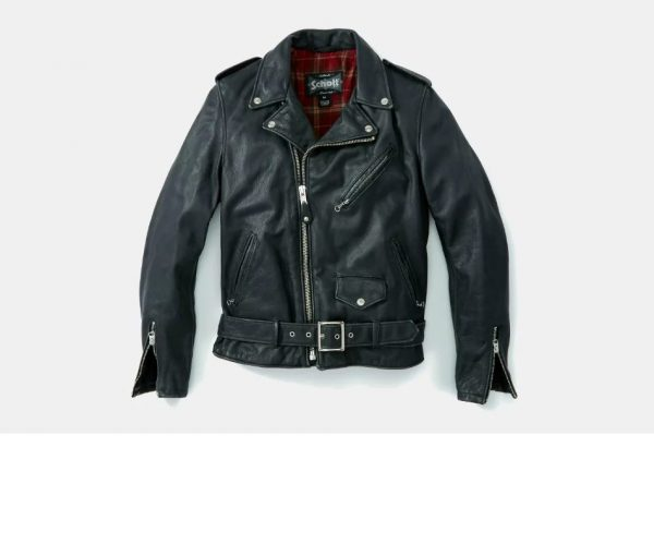 Schott Vintage Fitted Leather Motorcycle Jacket
