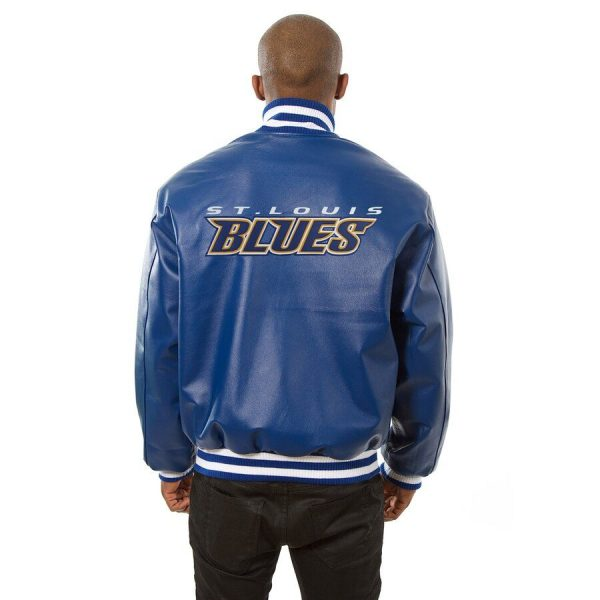 St. Louis Blues Baseball Leather Jackets