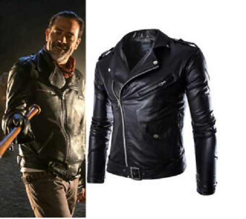 The Walking Dead Season 9 Negan Black Leather Jacket