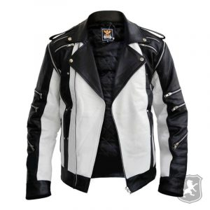 White And Black Leather Jacket