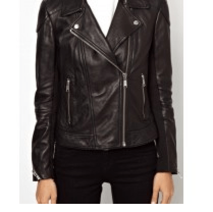 Womens Best Fitted Black Leather Jacket