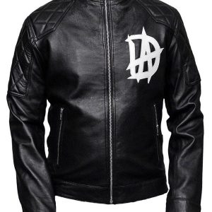 Wrestler Dean Ambrose Logo Black Leather Jacket