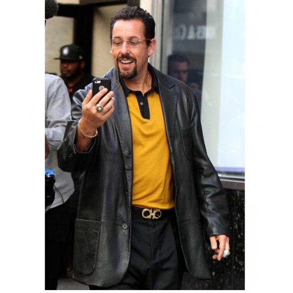 Adam Sandler Uncut Gems Howard Ratner Leather Blazer