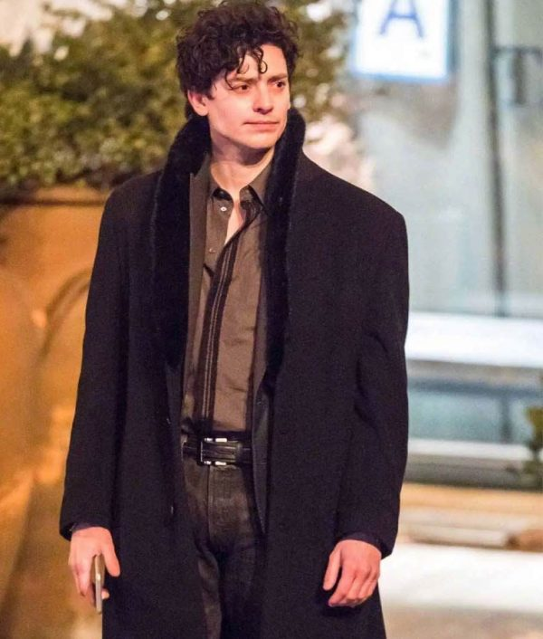 Aneurin Barnard The Goldfinch Black Boris Trench Coat