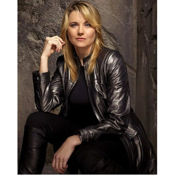 Battlestars Galactica Lucy Lawless Black Leather Coat