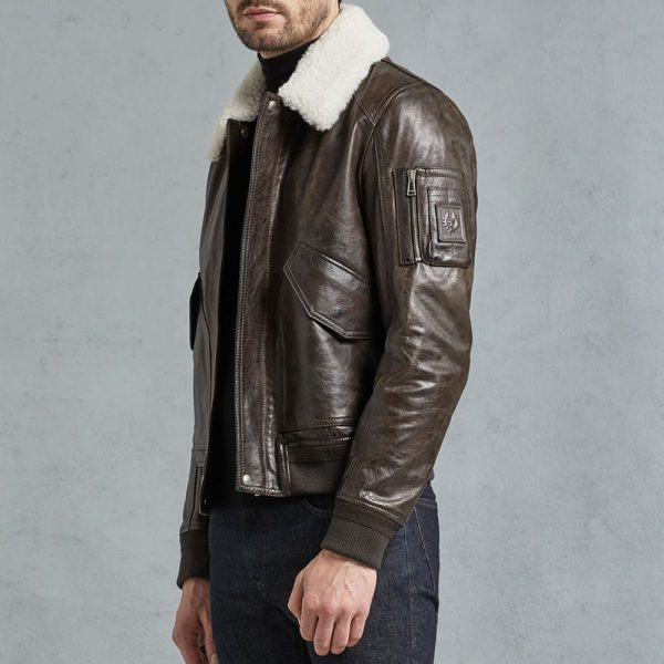 Belstaff Maverick Arne Brown Bomber Jacket