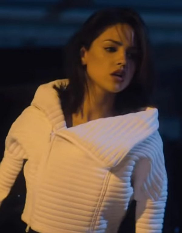 Bloodshot Eiza Gonzalez White Leather Jacket