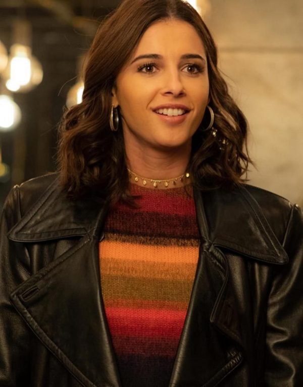 Charlies Angels Naomi Scott Black Leather Jacket.