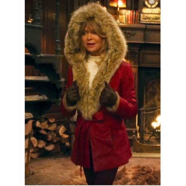 Christmas Chronicles Goldie Hawn Red Leather Jacket