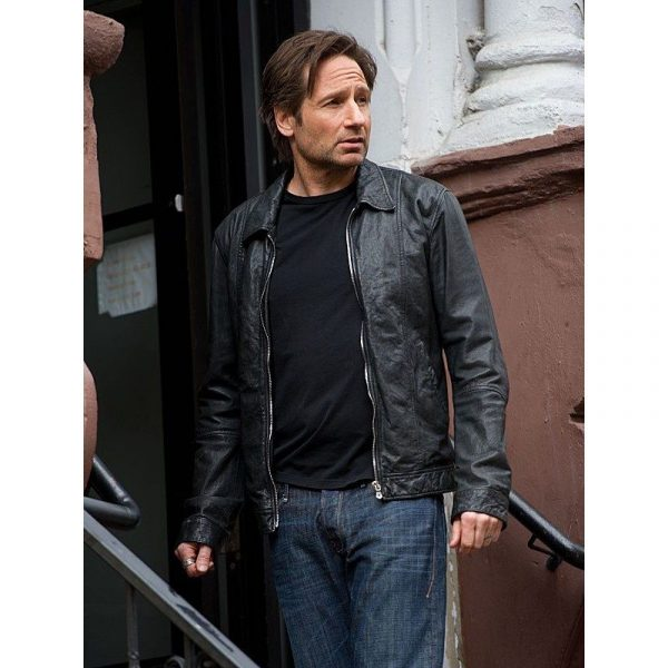 David Duchovny X-flies American Apperal Leather Jacket