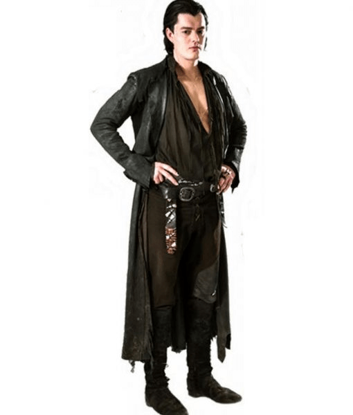 Diaval Sam Riley Leather Maleficent Trench Coat