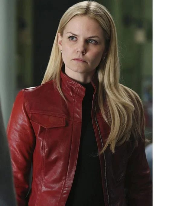 Emma Swan Once Upon A Time Movie Red Leather Jacket
