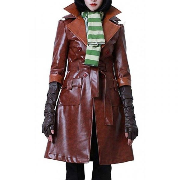 Fallout 4 Piper Wright Brown Long Leather Coat