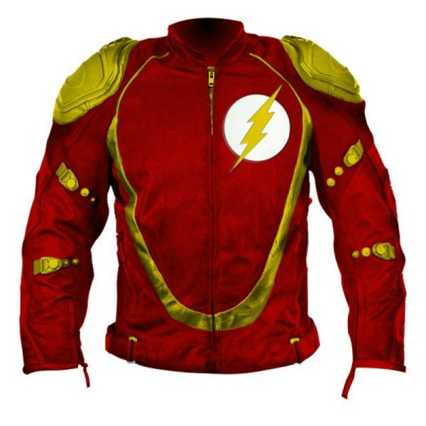 Flash Motorbike Red Leather Jacket
