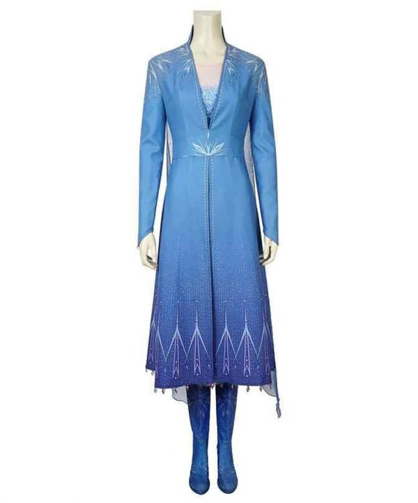 Frozen 2 Blue Cotton Princess Elsa Coat
