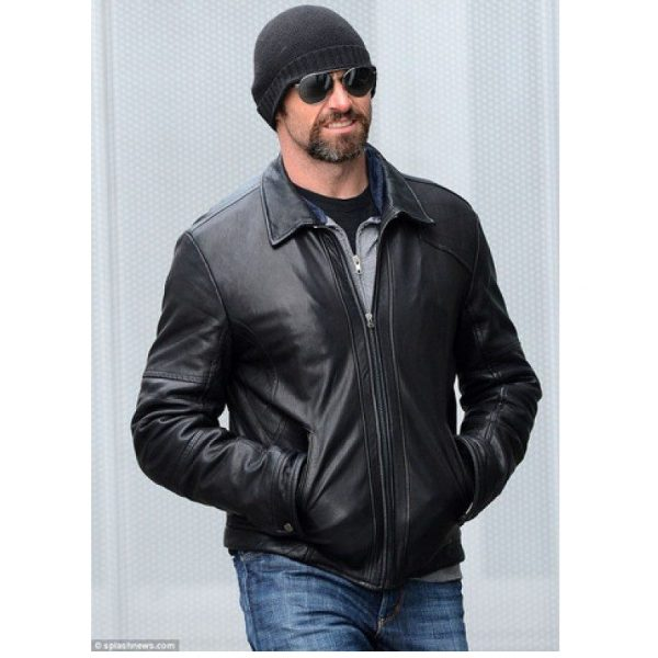 Hugh Jackman Wolverine Hero Hollywood Celebrity Leather Jacket