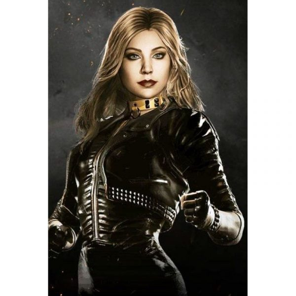 Injustice 2 Black Canary Leather Jacket